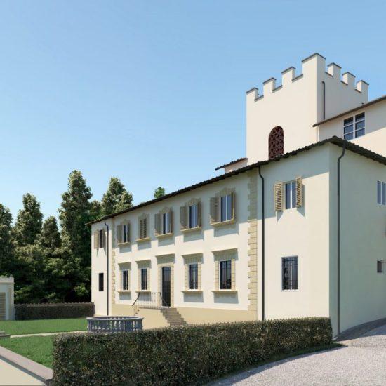 lavori di ristrutturazione di Villa Belvedere