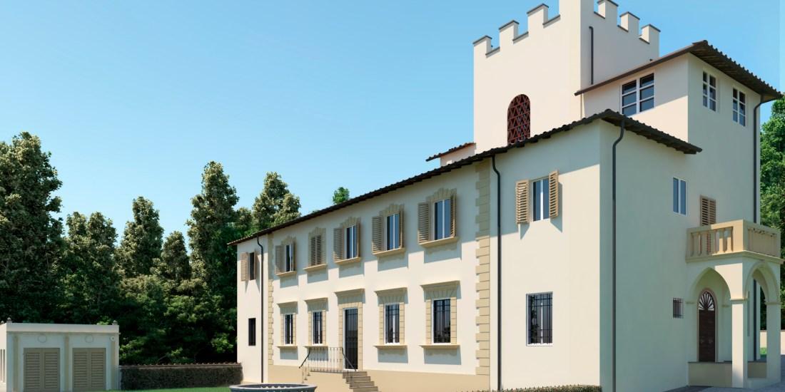 started the renovation of Villa Belvedere