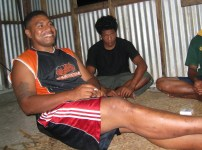 Sexy smiling Tongan man at Kava Ceremony