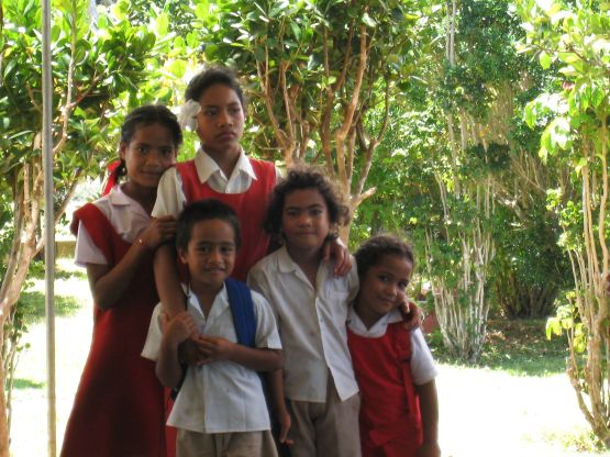 Tongan Children in School Uniforms