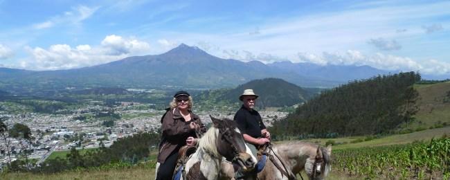 P1010308 Riding Horseback up the Mtn above Otavalo