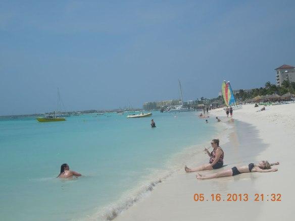 棕榈滩沙滩和渡假村群