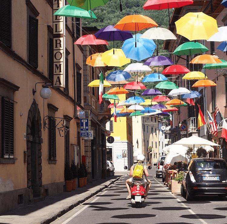 Toscane vespa trip Italië