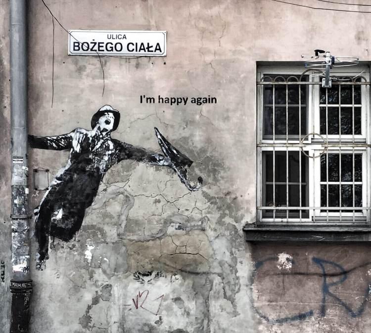 Street art Kazimierz Krakau