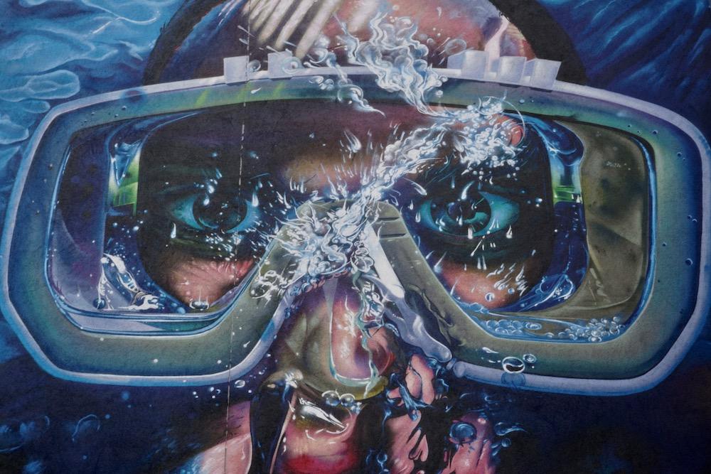 Street art Antwerpen Berchem: Moby Dick Rise One