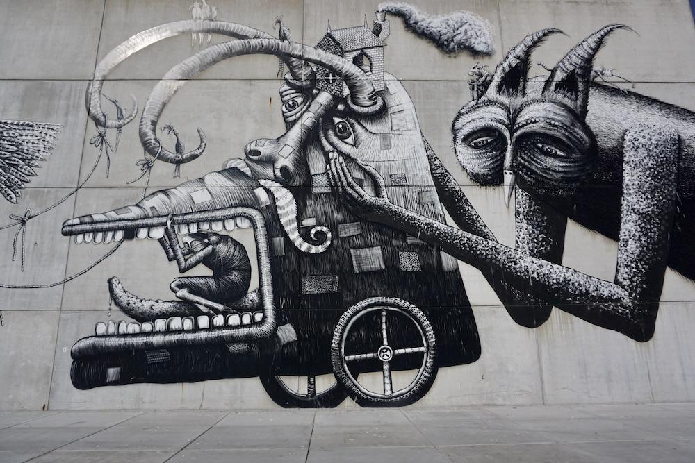 Muurschilderingen Oostende Belgie