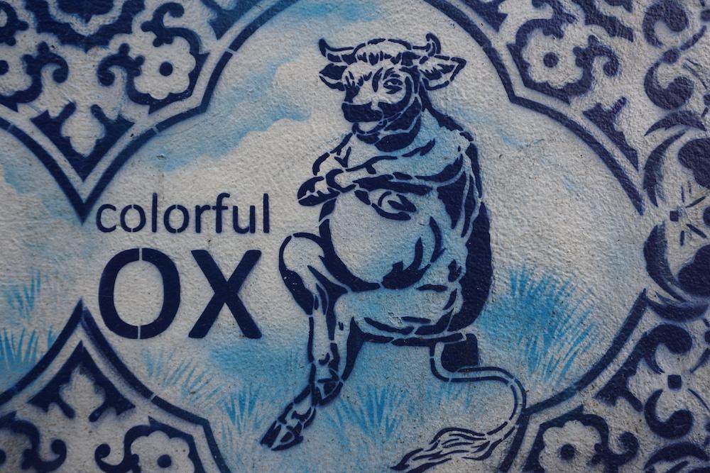 Street art Bonte Ossteeg Delft