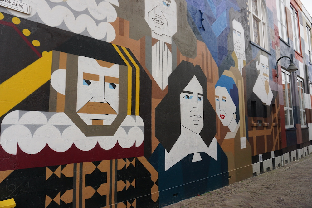 Street art Micha de Bie Kloksteeg Delft