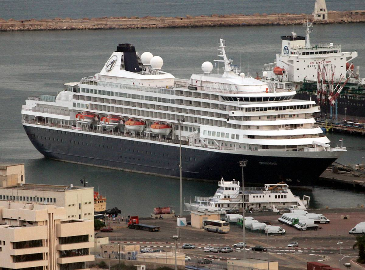 Holland America Line Cruise Ship Prinsendam on Mediterranean Cruise
