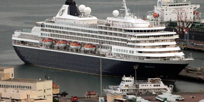 Holland America Line Cruise Ship Prinsendam on Mediterranean Cruise