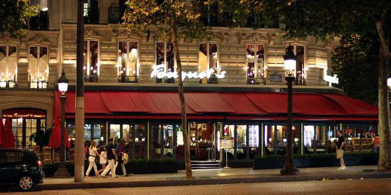 Restaurant Fouquet's Paris, Champs Elysees, Paris