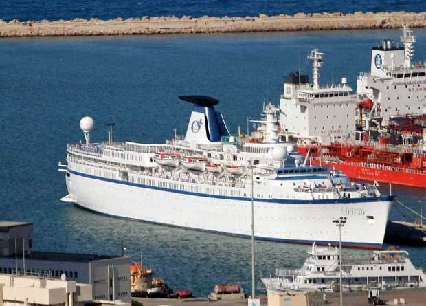 Cruise Ship Princess Danae Arrives to Haifa