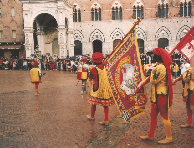 Men in Costume, Il Palio Parade, Siena, Italy