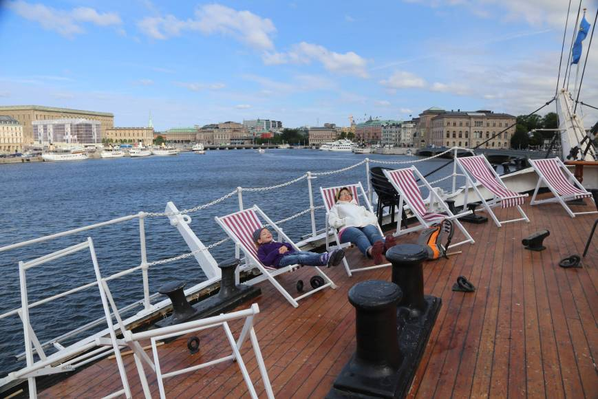 On board of the af Chapman, Stockholm, Sweden