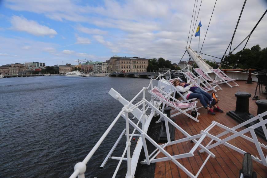 On board of the af Chapman, Stockholm, Sweden