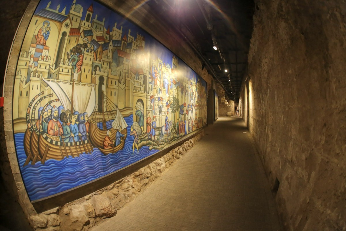 Crusaders' Fortress, (Knight Hall), Old City of Acre, Israel