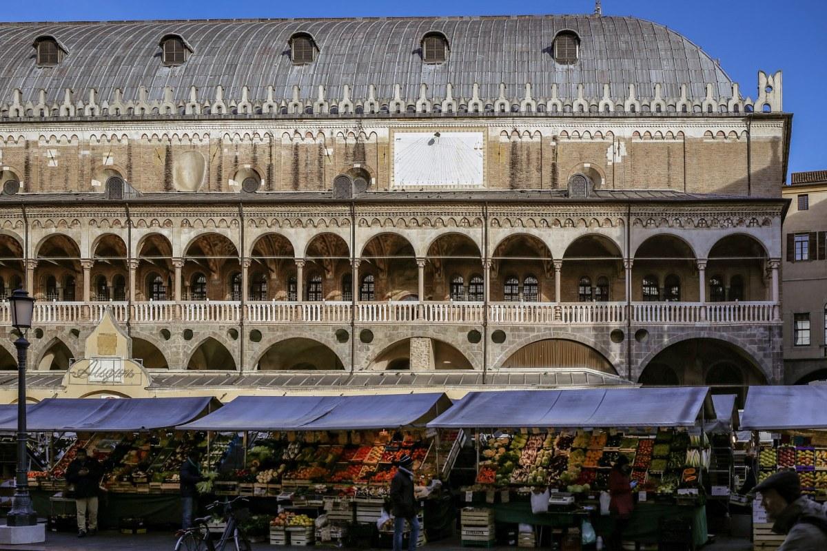 Market day in Padua, Italy