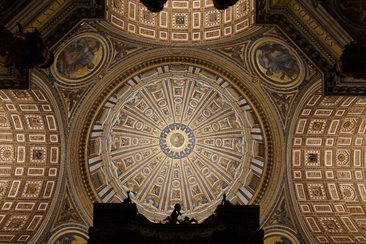 Main dome in St. Peter's Basilica with new illumination (Source: ARCHIVIO FOTOGRAFICO FABBRICA DI SAN PIETRO)