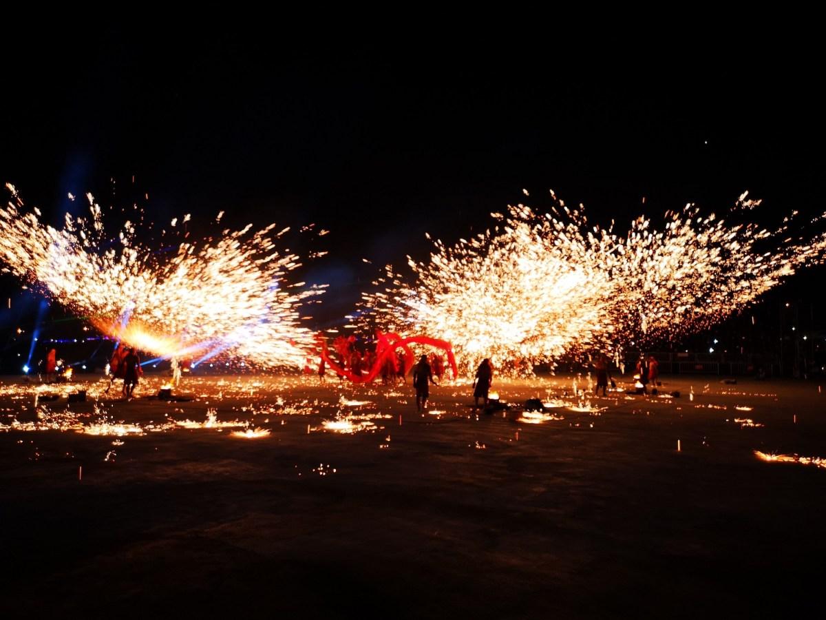 Chongqing fire dragon dance performed in Taiwan to mark Lantern Festival