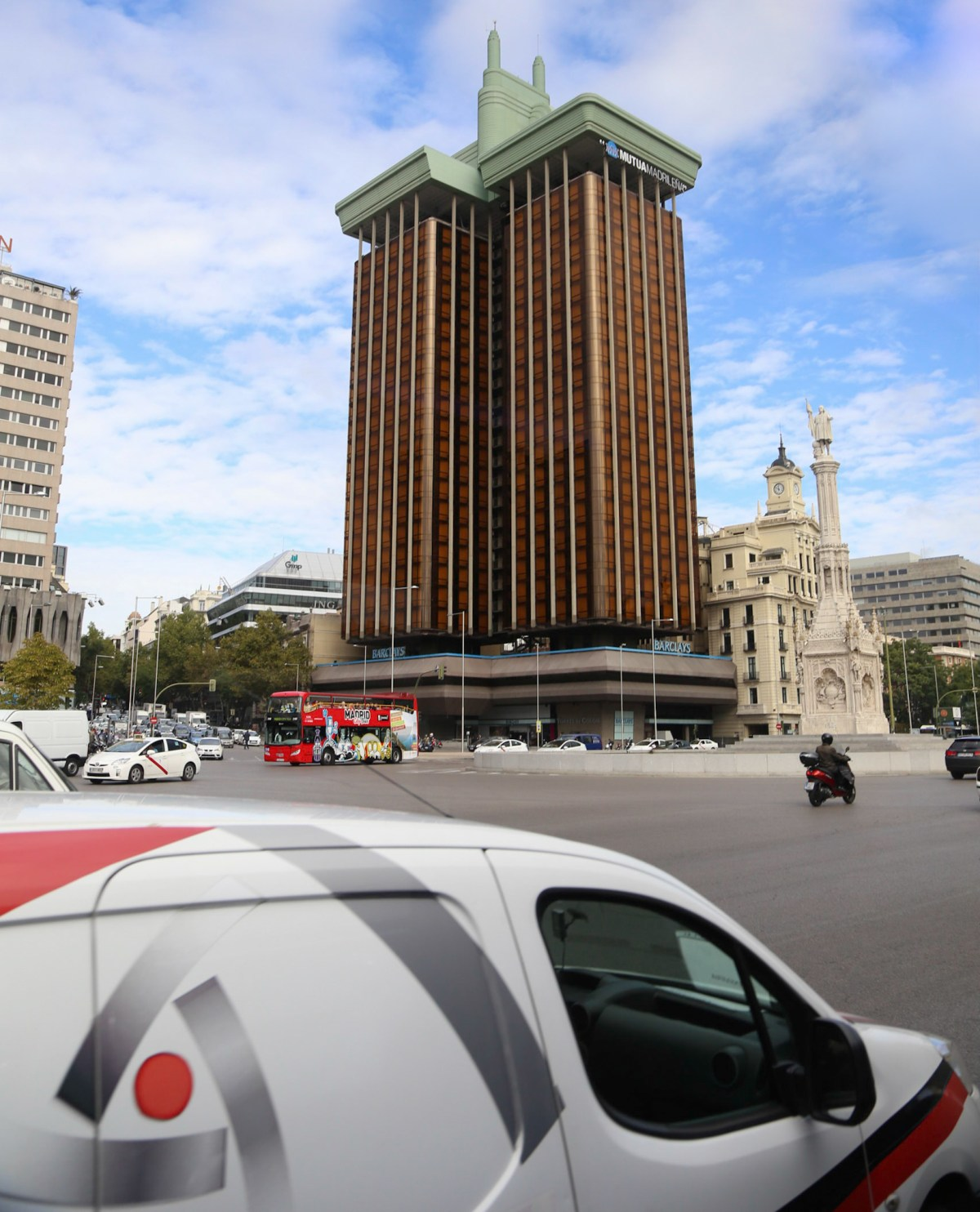 Paseo de la Castellana, one of the longest and widest avenues of Madrid