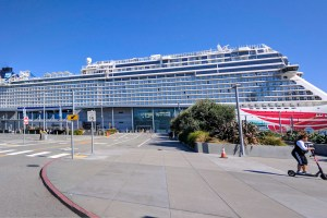 Norwegian Cruise Line (NCL) Ship in San Francisco Port