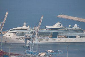 Cruise Ship Jewel of the Seas Enters Haifa Port