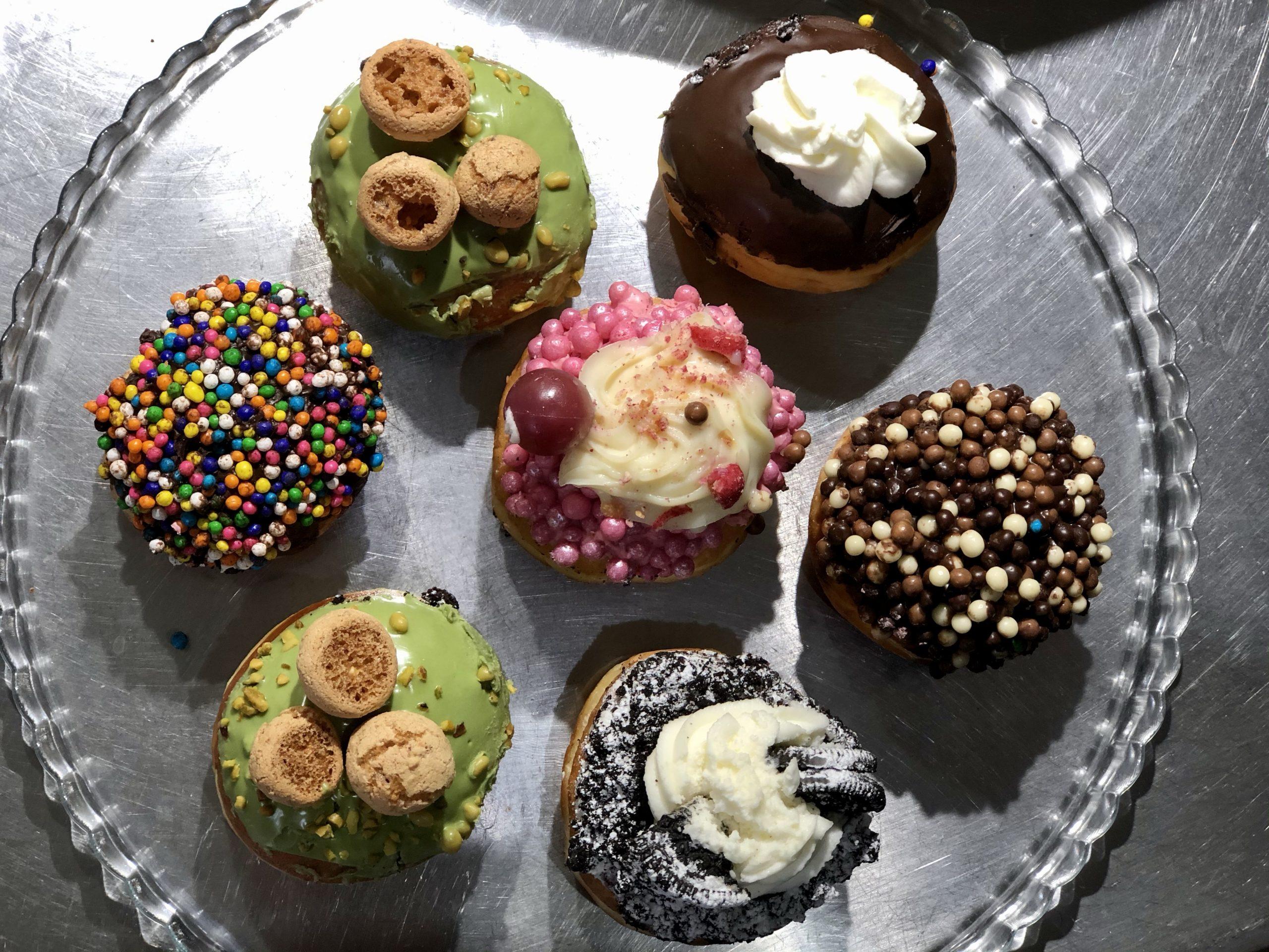 Sufganiyot from Roladin, an Israeli bakery chain