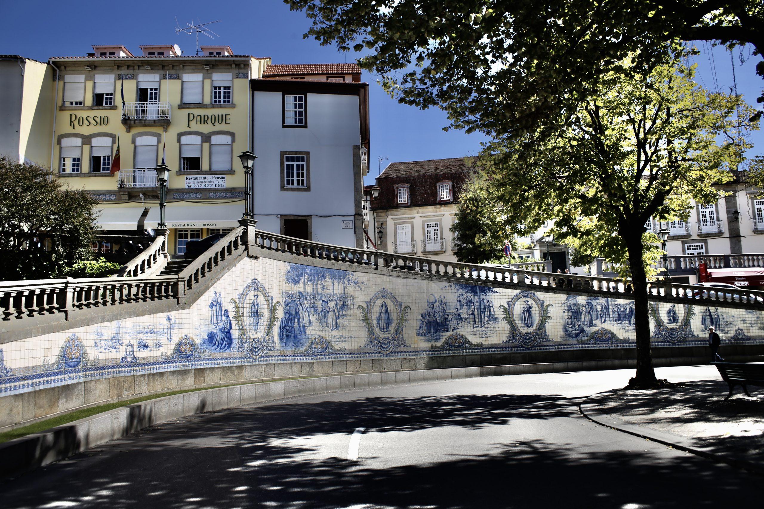 Azulejo, Portuguese and Spanish painted tin-glazed ceramic tilework, Viseu, Portugal