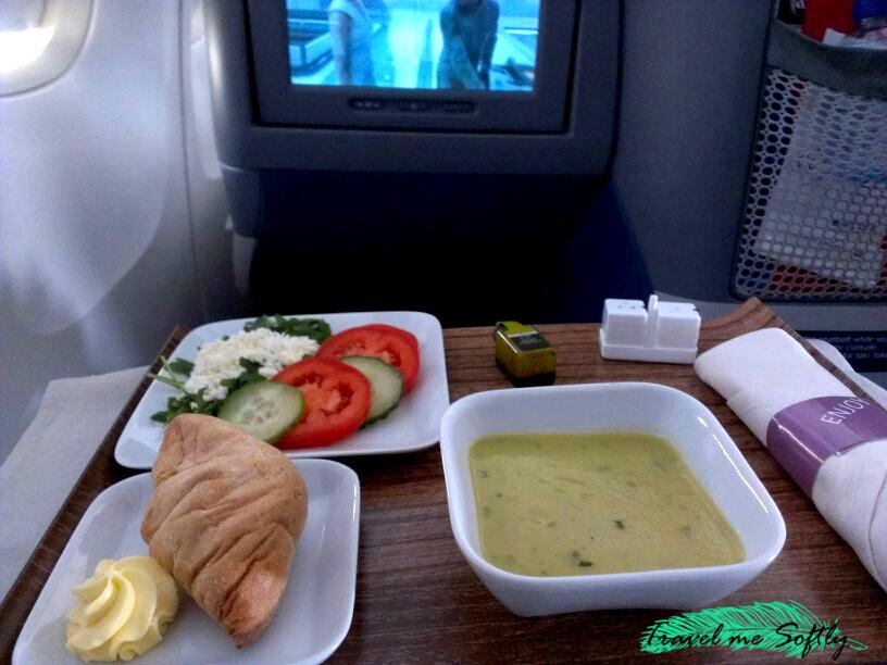 viajar en primera clase menú
