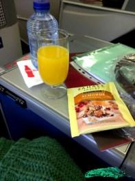 viajar en primera clase comidas