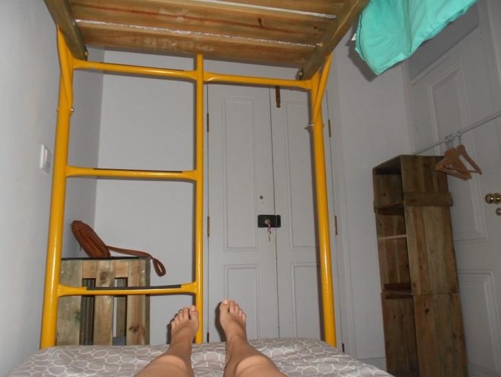 Habitación hostal lisboa