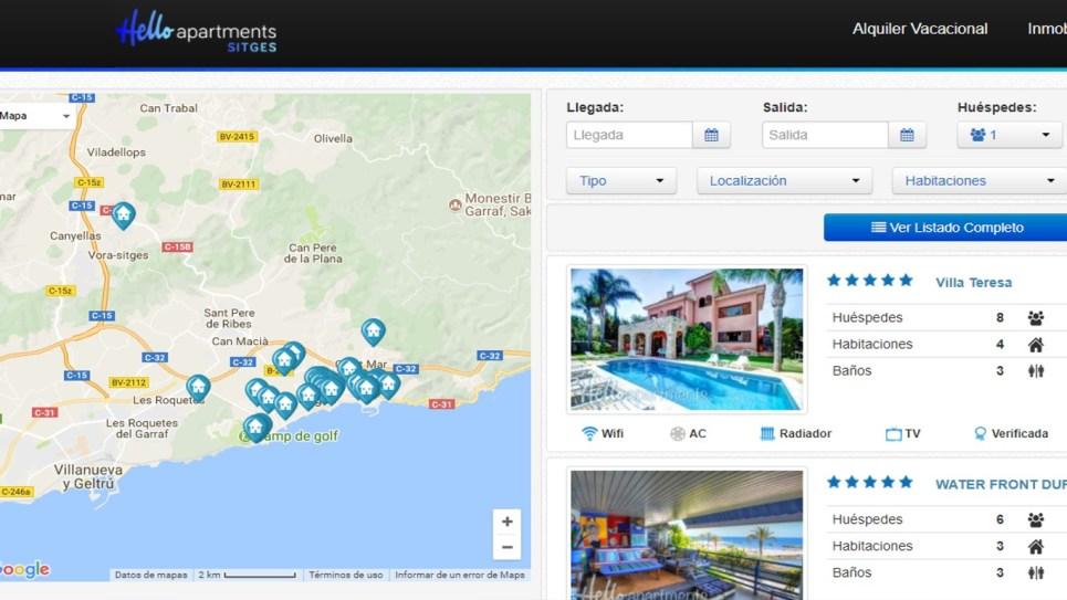 Mapa Hello Apartments Sitges