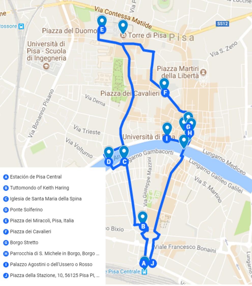 qué ver en Pisa en un día ruta