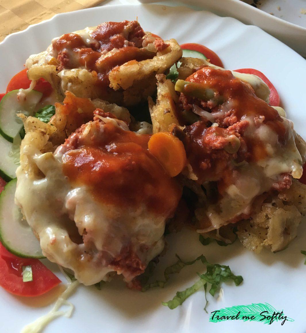 gastronomía cubana tostones rellenos de carne