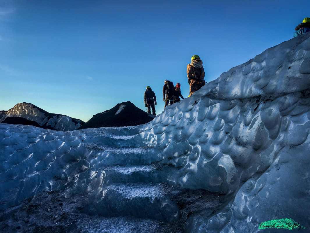 escalinata tallada en hielo
