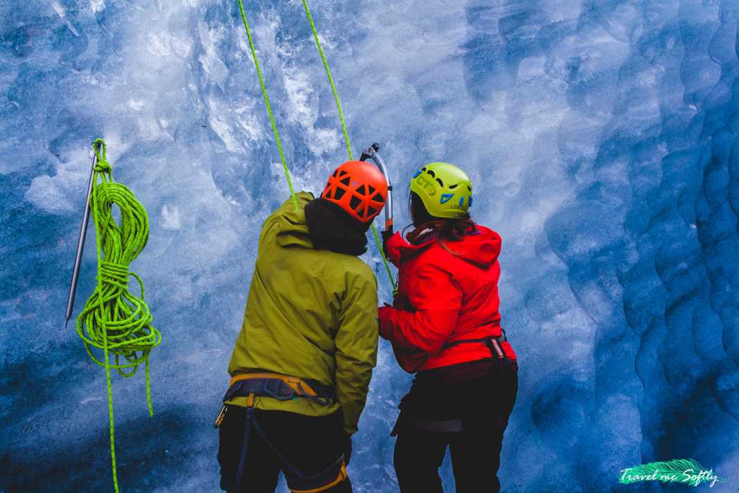 hacer escalada en hielo