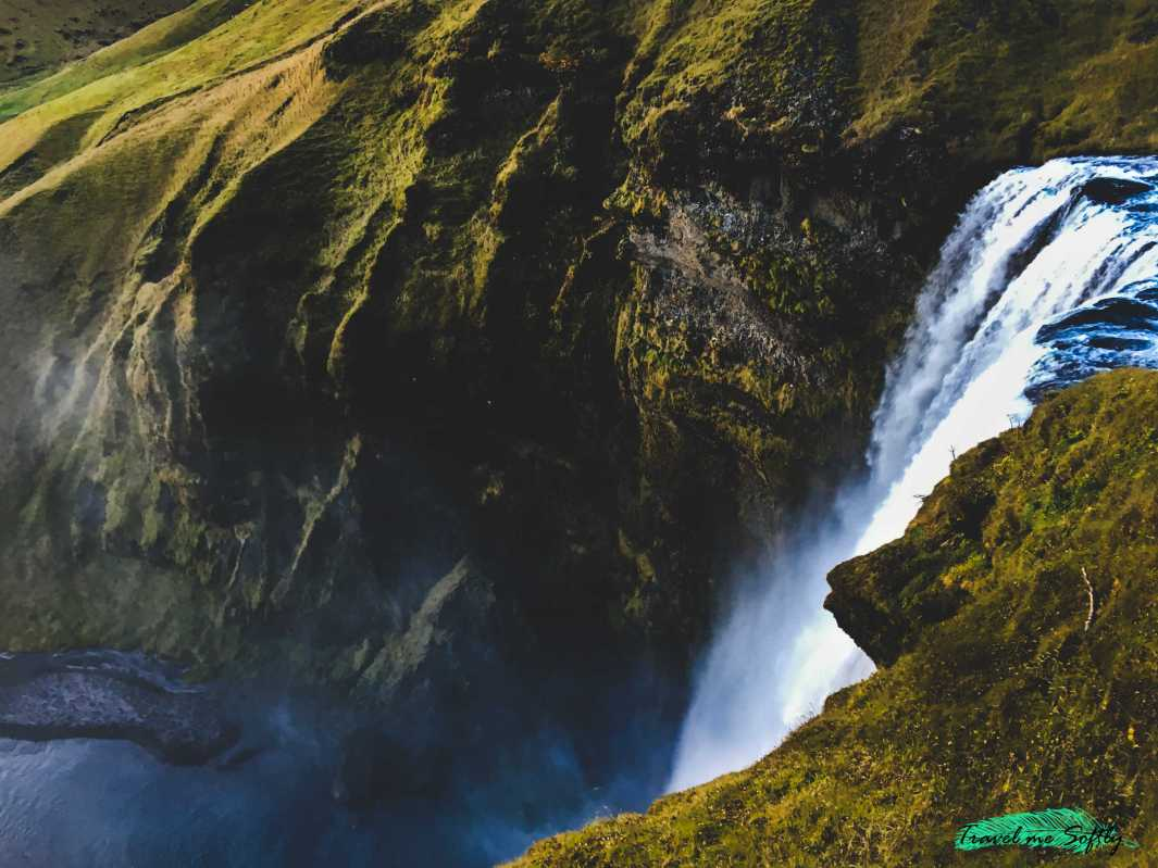 nacimiento de skogafoss cataratas de islandia