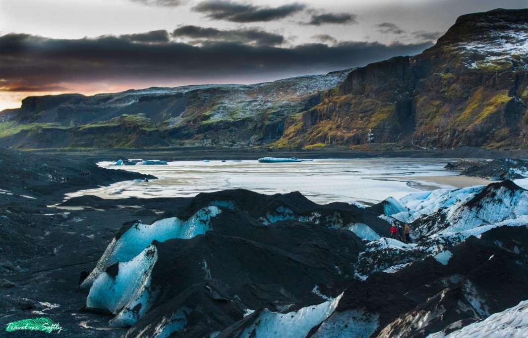 vistas solheimajokull imágenes de islandia