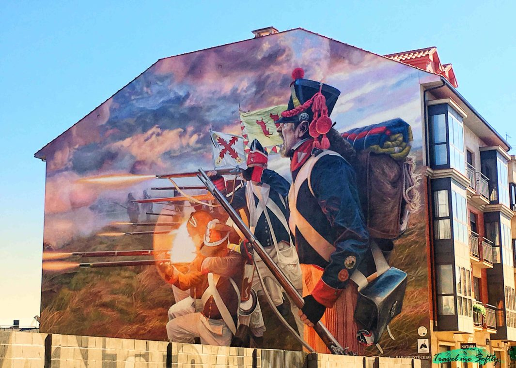 mural batalla napoleonica astorga