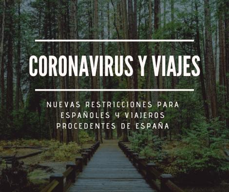 restricciones de viaje por el coronavirus