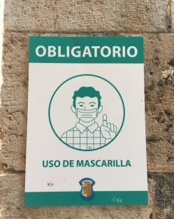 cartel mascarilla covid albarracin