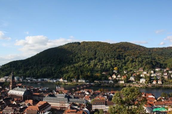 Vistas de Heidelberg colina