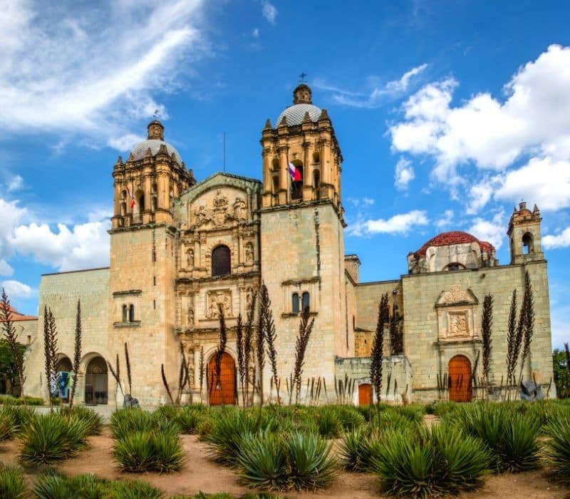 spanish style cathedral in oaxaca mexico - Traveling to Oaxaca