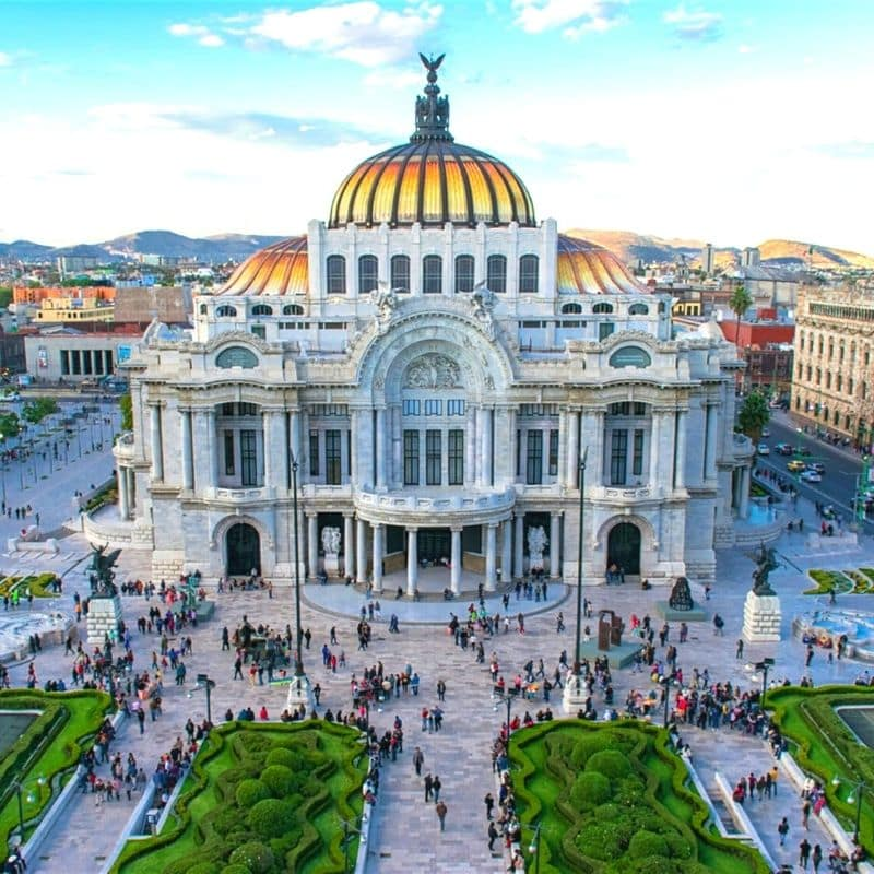 European style Bellas Artes building in Mexico City
