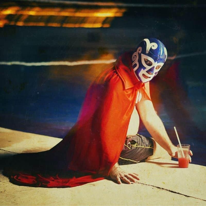 Lucha Libre masked Mexican wrestler