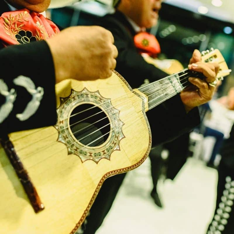 Mariachi band playing music in Mexico City