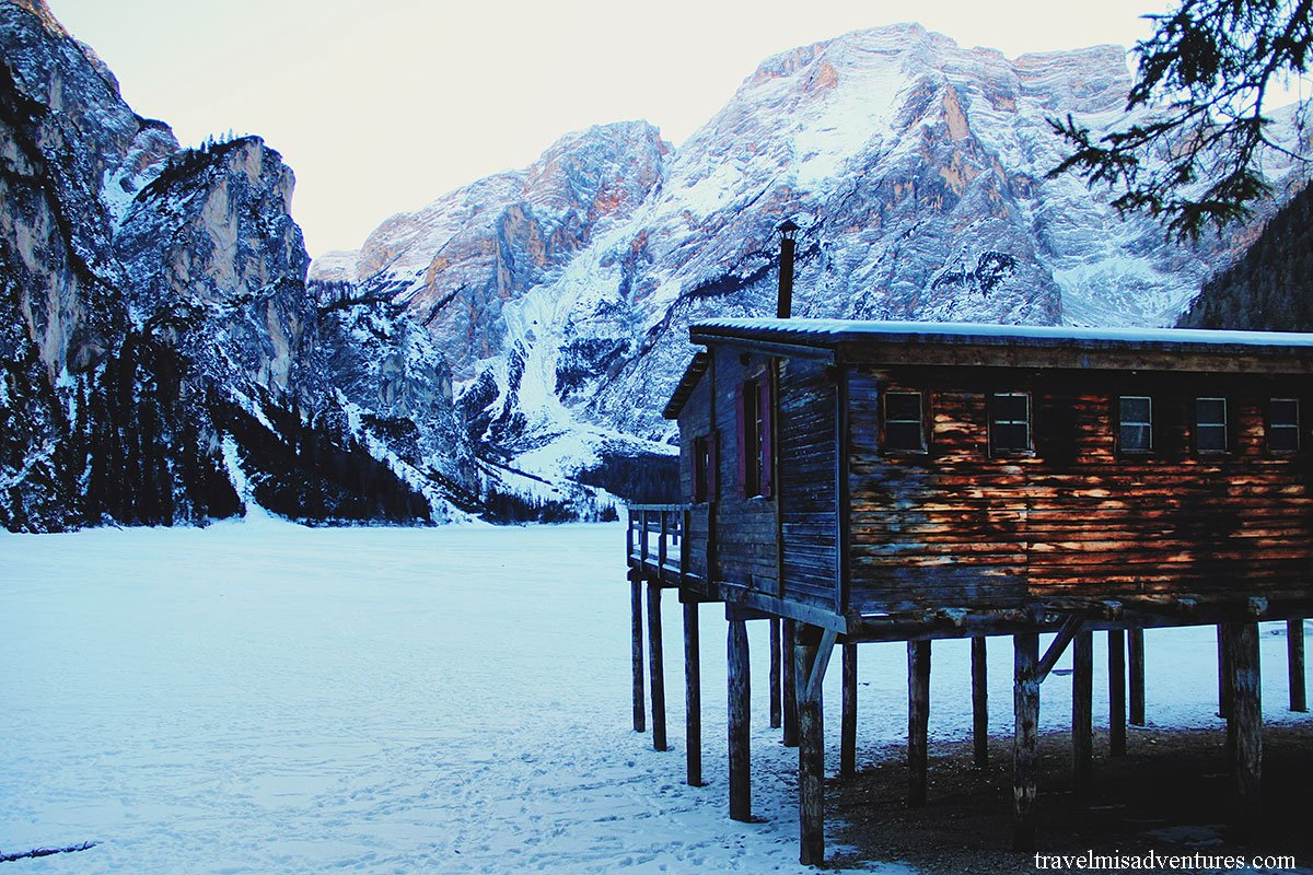Un weekend al Lago di Braies in inverno