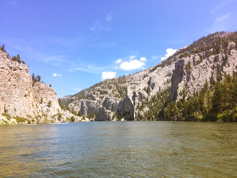 Boating Through the Gates of the Mountains in Montana
