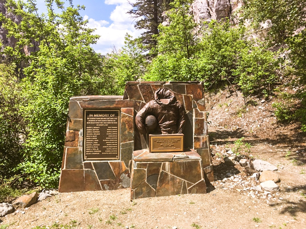 Mann Gulch Fire Smokejumper Memorial at Meriwether Picnic Area