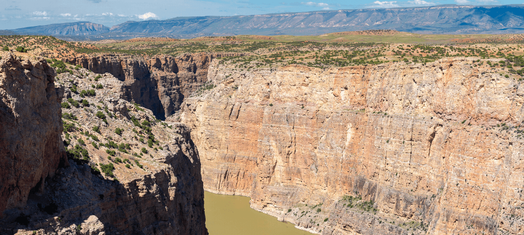 Bighorn Canyon, one of the National Historic Sites in Montana